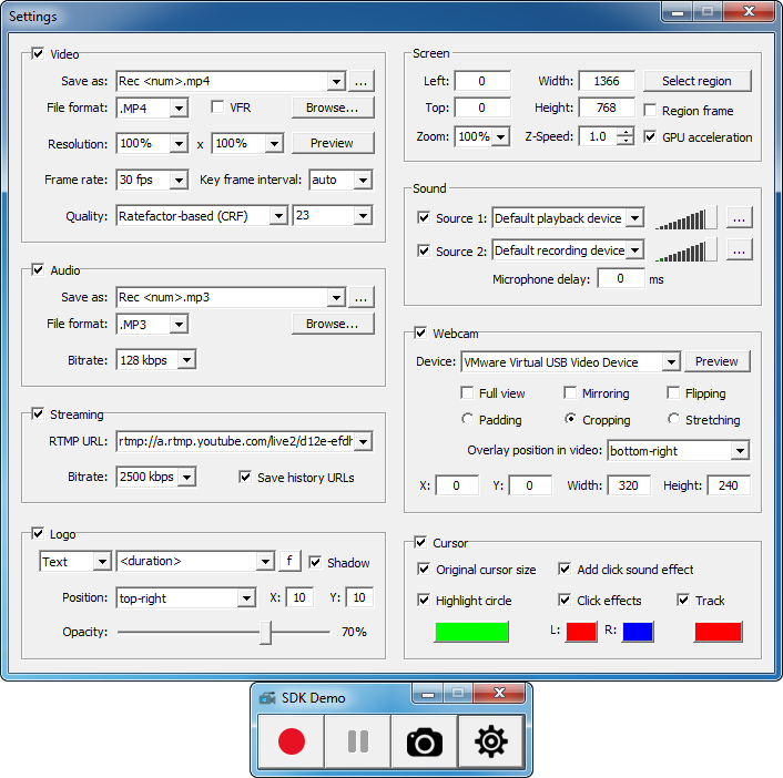 ZD Soft Screen Recorder SDK